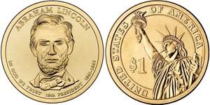 Монета США $1 Президенты (16) Авраам Линкольн.
