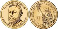 Монета США $1 Президенты (23) Бенджамин Хариссон.