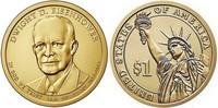 Монета США $1 Президенты (34) Дуайт Эйзенхауэр.