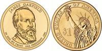 Монета США $1 Президенты (20) Джеймс Гарфилд