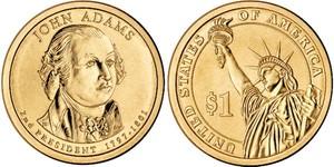 Монета США $1 Президенты (02) Джон Адамс.