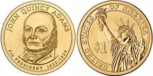 Монета США $1 Президенты (06) Джон Куинси Адамс.