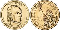 Монета США $1 Президенты (10) Джон Тайлер.