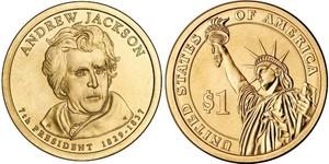 Монета США $1 Президенты (07) Эндрю Джексон