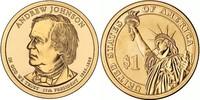 Монета США $1 Президенты (17) Эндрю Джонсон.