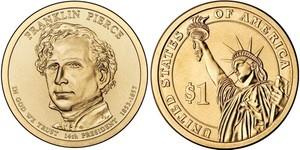 Монета США $1 Президенты (14) Франклин Пирс.