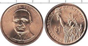 Монета США $1 Президенты (33) Гарри Трумэн.