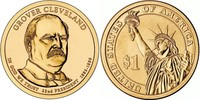 Монета США $1 Президенты (22) Гровер Кливленд.