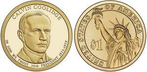 Монета США $1 Президенты (30) Кельвин Кулидж.