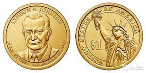 Монета США $1 Президенты (36) Линдон Джонсон.