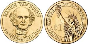 Монета США $1 Президенты (08) Мартин Ван Бюрен