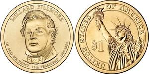 Монета США $1 Президенты (13) Филлмор Миллард