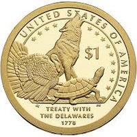 "1 доллар Сакагавеи ""Договор с Делаварами"""