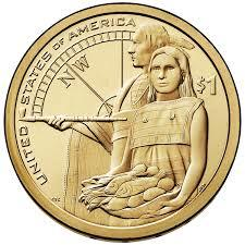"1 доллар Сакагавеи ""Помощь индейцев"""