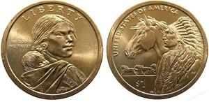 """1 доллар Сакагавеи """"Торговые пути"""""""