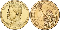 Монета США $1 Президенты (26) Теодор Рузвельт