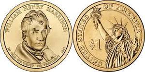 Монета США $1 Президенты (09) Уильям Харрисон