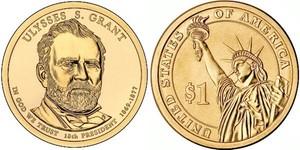 Монета США $1 Президенты (18) Улисс Грант.