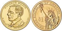Монета США $1 Президенты (28) Вудро Вильсон.