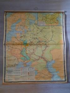 """Карта """"Русское государство в 17 в."""" 1977 г (Б/у)"""