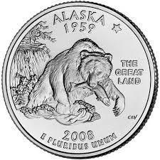 25 центов Аляска