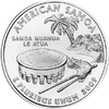 25 центов Американское Самоа