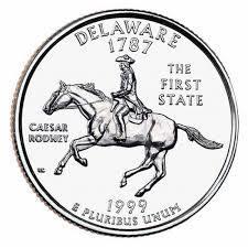 25 центов Делавэр