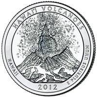 25 центов Гавайские вулканы