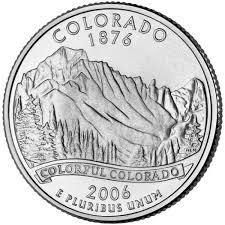 25 центов Колорадо
