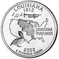 25 центов Луизиана