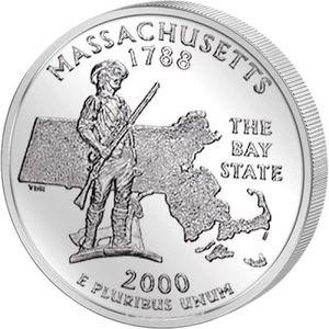25 центов Массачусетс
