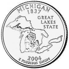 25 центов Мичиган