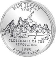 25 центов Нью-Джерси