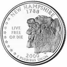 25 центов Нью-Гэмпшир