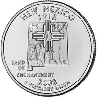 25 центов Нью-Мексико