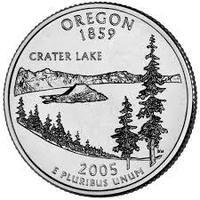 25 центов Орегон