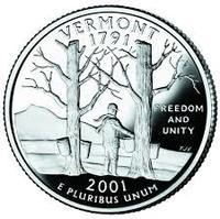25 центов Вермонт