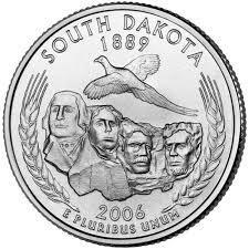 25 центов Южная Дакота