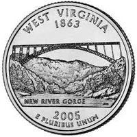 25 центов Западная Вирджиния