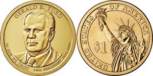 Монета США $1 Президенты (38) Джеральд Форд.