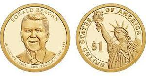 Монета США $1 Президенты (40) Рональд Рейган