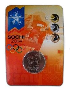 """Нумизматическая открытка """"Сочи-2014: Талисманы Паралимпийских Игр"""""""