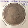 Монета Германия Саксония 5 марок 1876 Альберт серебро (AG)