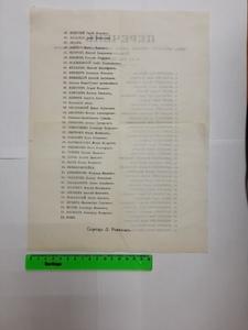 """Брошюра """"Перечень лиц, внешних членские взнос в кассу бюро уральских химиков по 8-е июля 1903 г."""""""