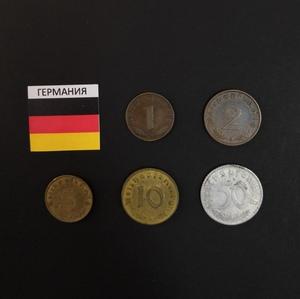 Набор монет Германия 1938 - 1940 г.