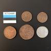 Набор монет Эстония 1922г.,1929г., 1931г., 1934г., 1939г.