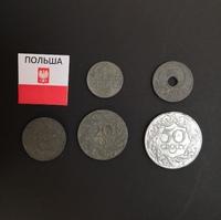 Набор монет Польша 1923г., 1927г., 1929г., 1939г.