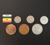 Набор монет Гана 1958г., 1967г.