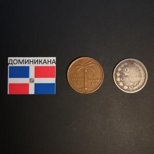 Набор монет Доминикана 1952г., 1888г.