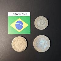 Набор монет Бразилия 1938г., 1940г.